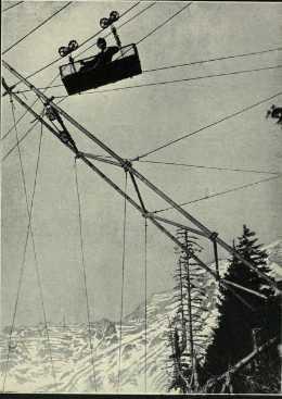 prima guerra mondiale - fronte italiano - trasporto tramite teleferica